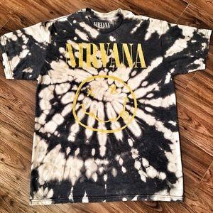 NIRVANA custom bleached band t-shirt.